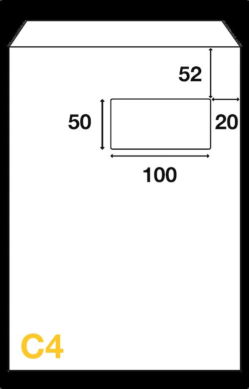 Dimensions Fenêtre enveloppe C4 229x324