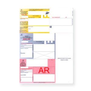 Recommandés A4 avec accusé réception sans code-barres