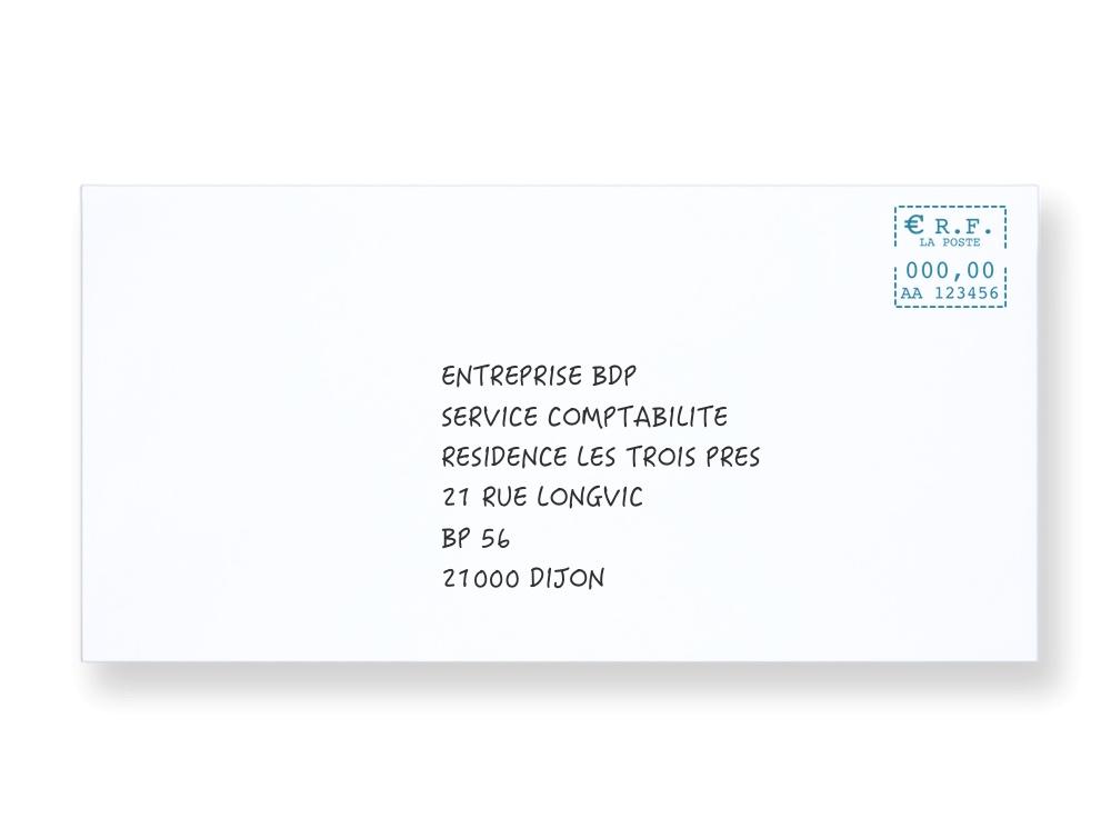 Bien rédiger l'adresse destinataire d'un professionnel sur une enveloppe