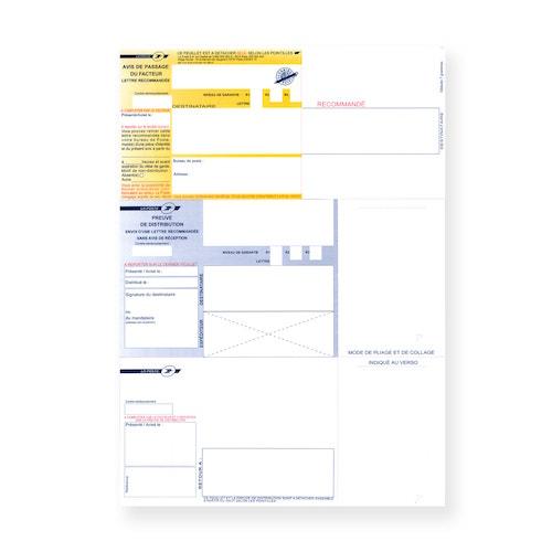 Recommandé A4 sans accusé réception, ou liasse bureautique, sur Bureaudeposte.net