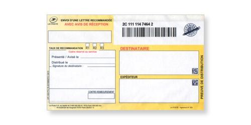 Preuve de distribution du recommandé en continu avec accusé réception ou liasse LR1 sur Bureaudeposte.net