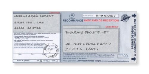 Bureaudeposte.net : preuve de dépôt
