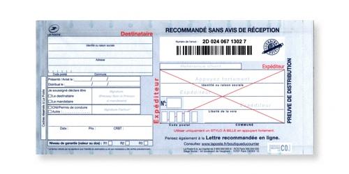 Preuve de distribution du Recommandé manuel sans accusé réception ou liasse guichet SGR1 sur Bureaudeposte.net