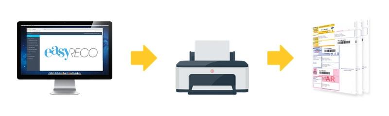 Avec easyReco, vous imprimez facilement vos recommandés