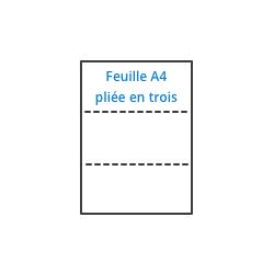 Bureaudeposte.net : feuille à insérer dans une enveloppe DL