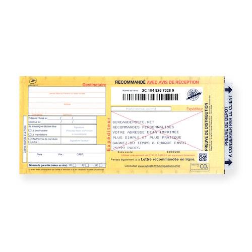 Bureaudeposte.net : recommandé manuel personnalisé avec accusé réception