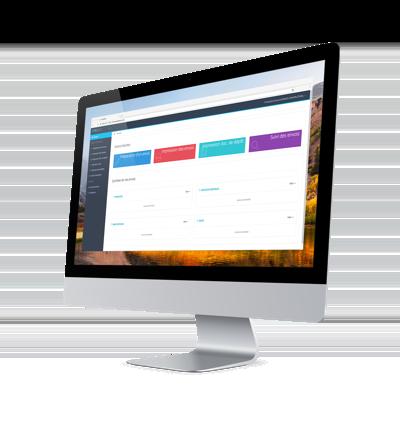 Ecran logiciel easyReco pour les services Courrier