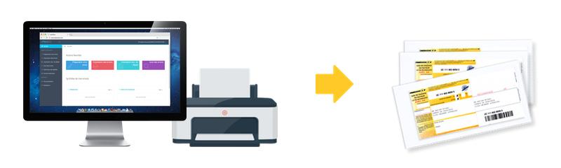 Logiciel courrier easyReco avec imprimante et lettres recommandées