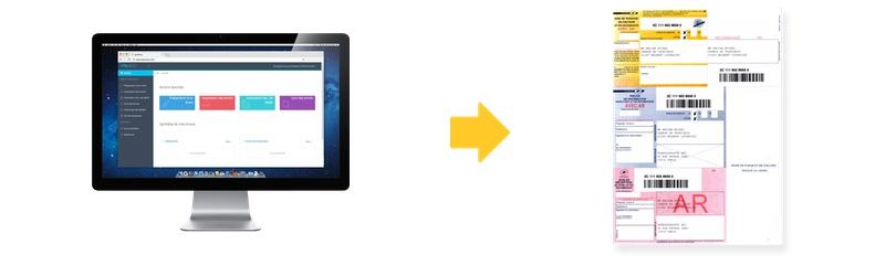 logiciel easyReco permet de préparer vos recommandés A4 et de les imprimer depuis votre imprimante