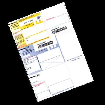 IB2 - Recommandé A4 postal sans AR (sans avis de réception)