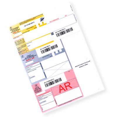 IB1 - Recommandé A4 postal avec AR (avec avis de réception)