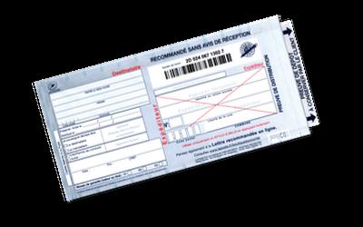 SGR1 - recommandé manuel postal sans AR (sans avis de réception)
