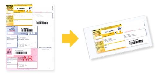 Coller un recommandé A4 sur l'enveloppe
